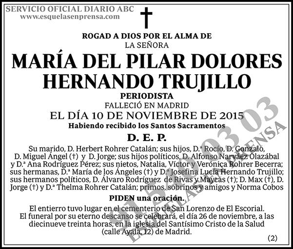 María del Pilar Dolores Hernando Trujillo